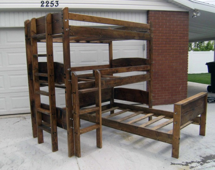 6ft long bunk beds 2